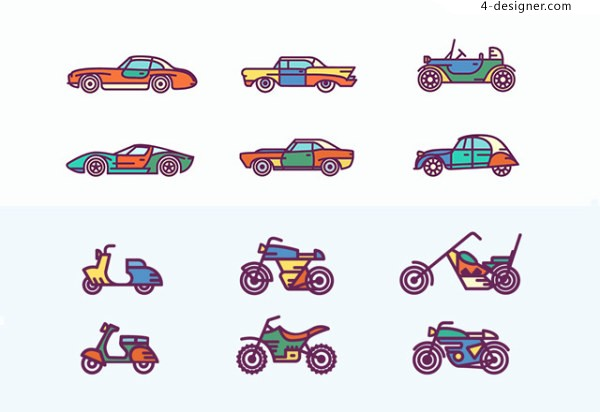 Vintage vehicles icon