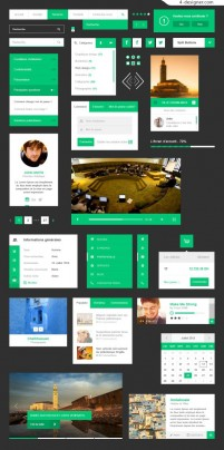 Web interface templates PSD