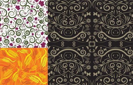 Beautiful pattern background vector material
