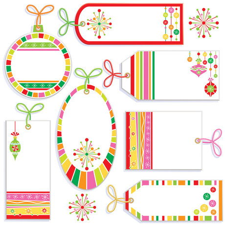 Cute label tag vector material
