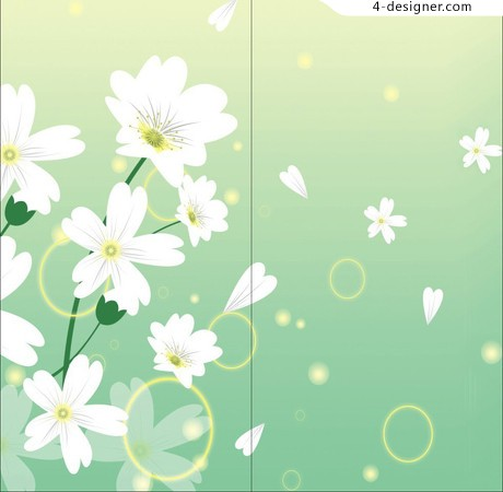 White flowers vector material
