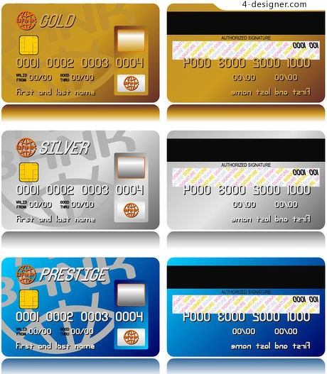 Bank Card Credit Template Vector Material