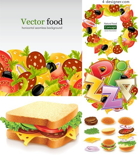 Fine food vector material