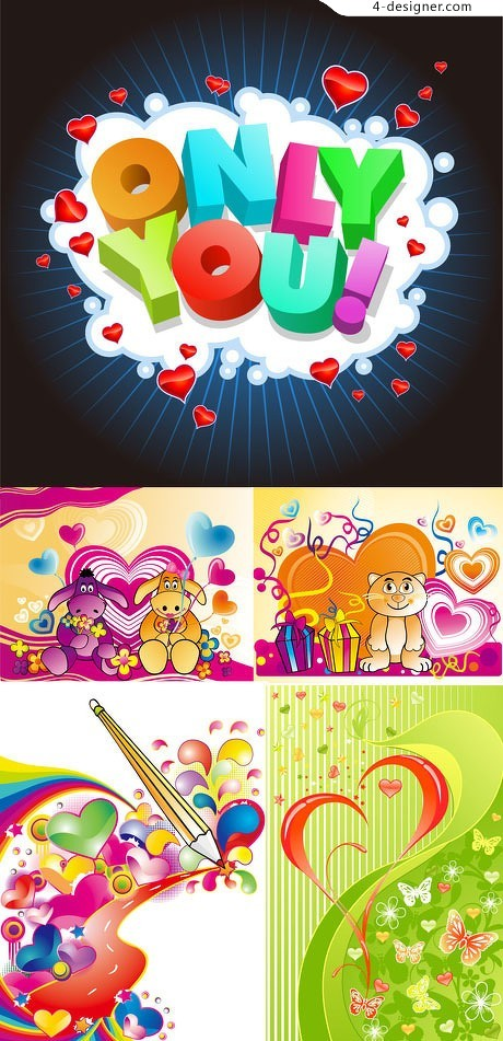 Happy Valentine s Day vector colorful background