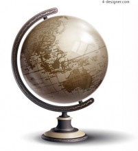 Ancient globes vector material