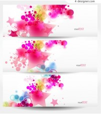 Banner text template vector elements