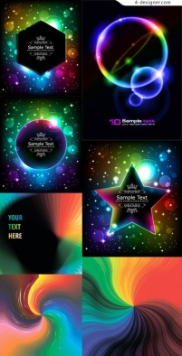 Halo brilliant color effects vector material