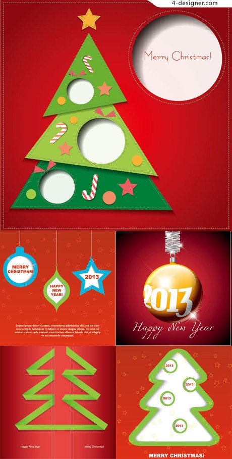 2013 Red Christmas background vector material