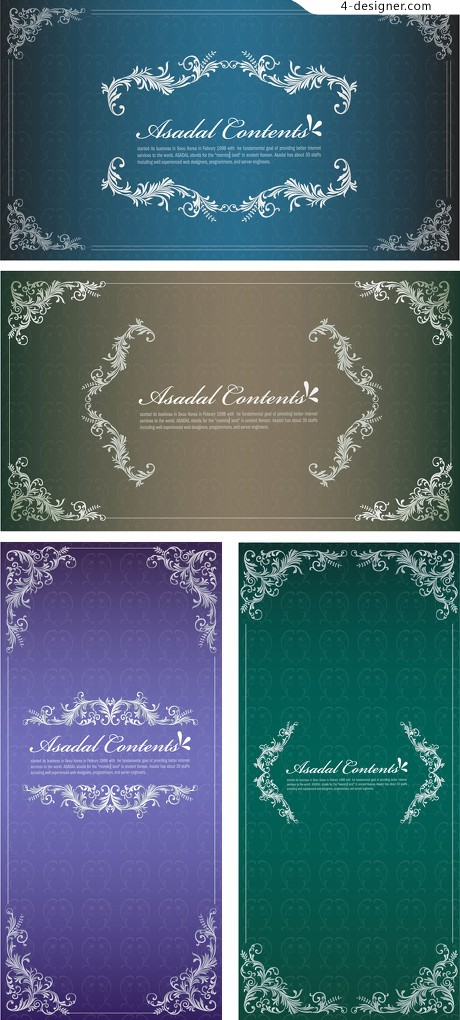 4 decorative pattern background vector material