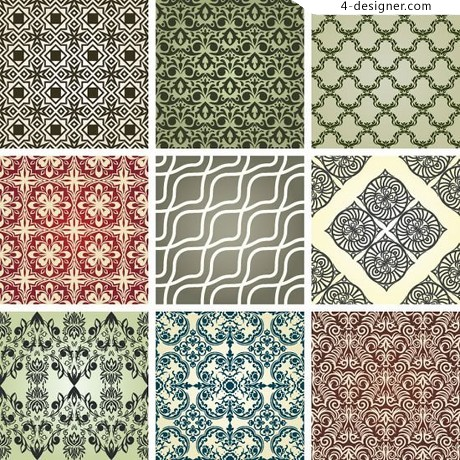 Continuous pattern exquisite pattern vector material
