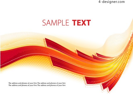 Red line text box template vector material