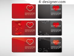 Beautiful valentine cards vector 10