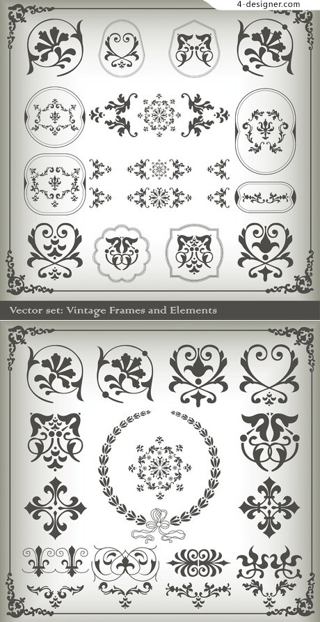 Pattern decorative patterns vector material