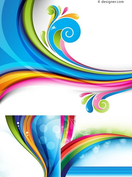 Blue wave vector background shading