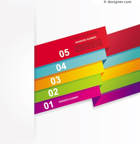 Colorful digital banner vector 02