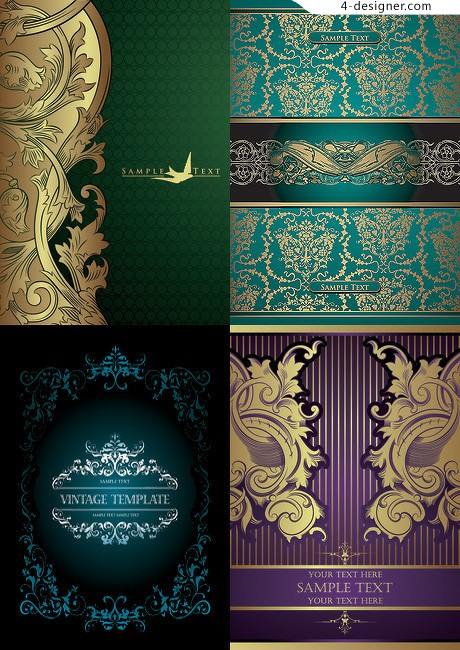 European classical pattern background pattern vector material