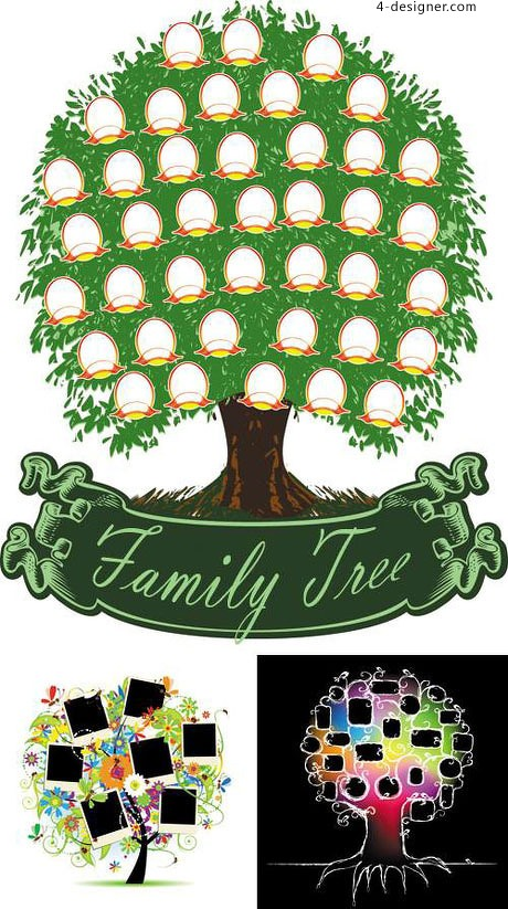Family tree vector material