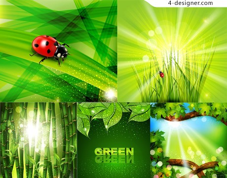 Green theme vector material