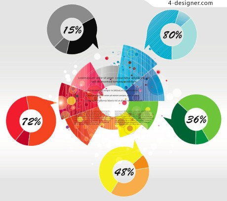 Information marked pie chart vector material