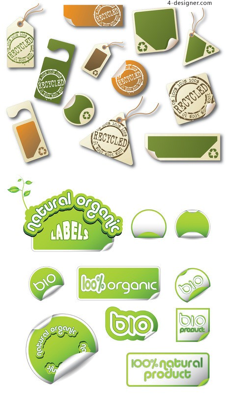 Several simple and practical green label vector material