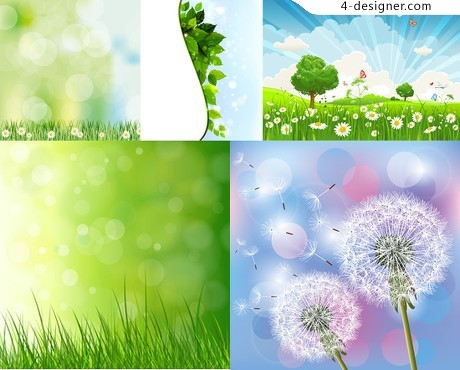 Spring Wild Flowers vector material