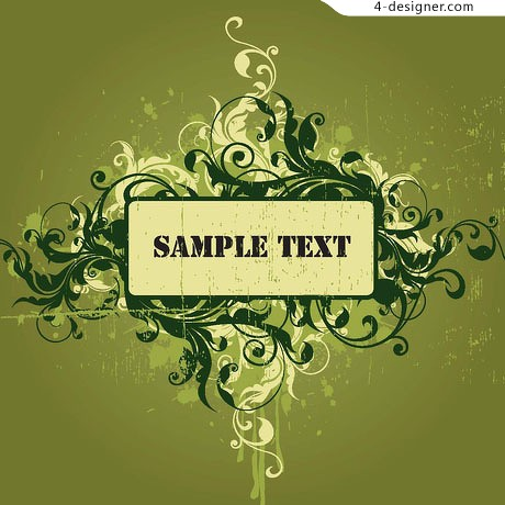 Strong visual sense pattern background material 1