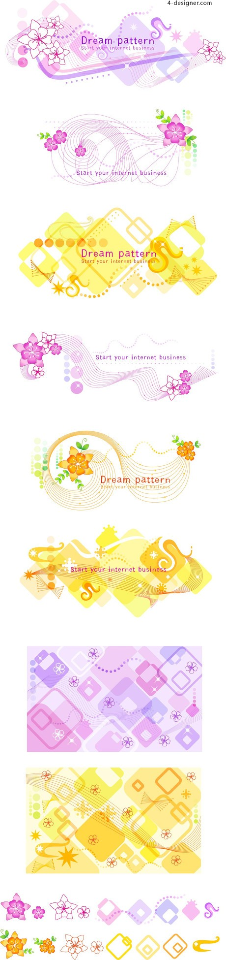 Beautiful lace pattern vector material