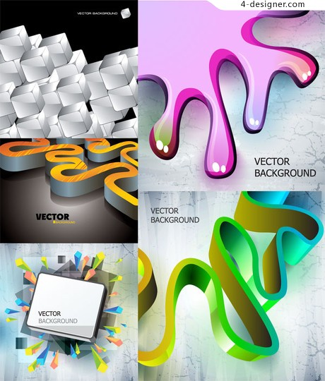 Dynamic three dimensional vector graphics background