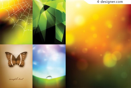 Fantasy background vector material