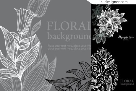 Graceful lines vector material