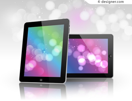Ipad template vector material