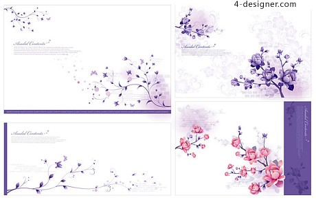 Stylish and elegant flower pattern vector material