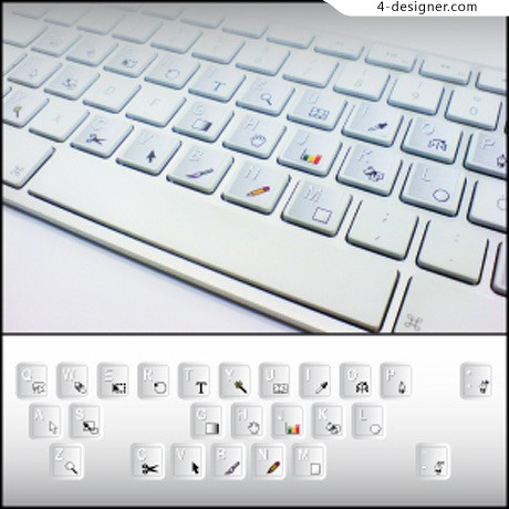 Vector stylish keyboard and buttons material