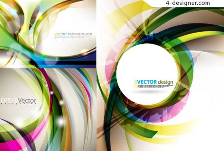 Cluttered and dynamic background vector material
