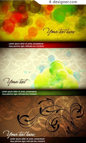 Colorful and elegant background vector material