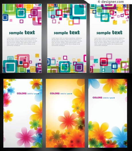Colorful background vector material Symphony