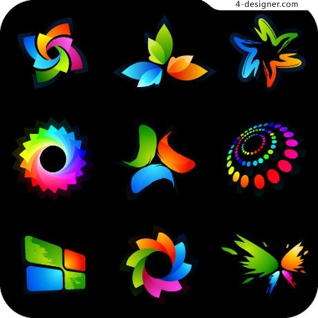 Colorful logo vector material