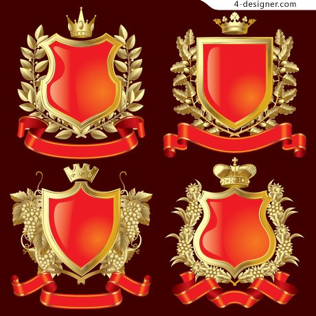 Continental Crown Shield Vector material