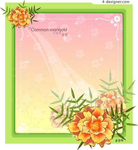 Korean exquisite frame vector material