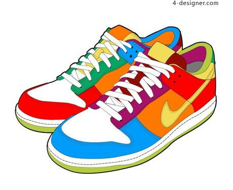 Nike sports shoes vector material