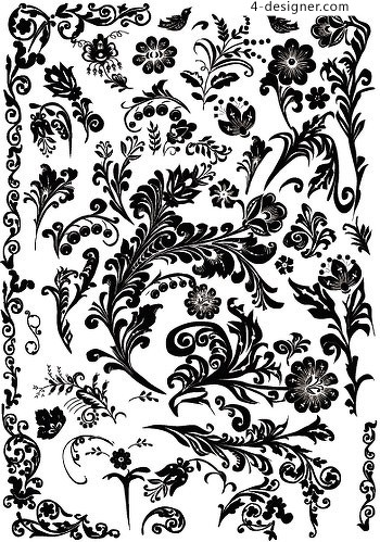 Practical crude black and white pattern vector material