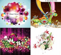 Revitalizing abstract bouquet vector material