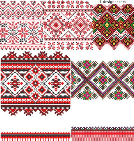 Two square continuous weave pattern vector material