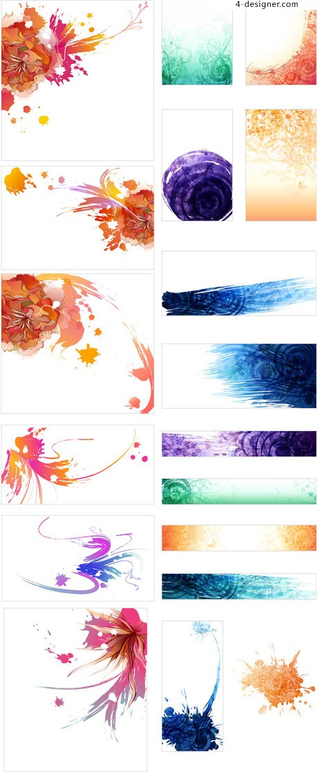 Vector material traces of ink and color rendering