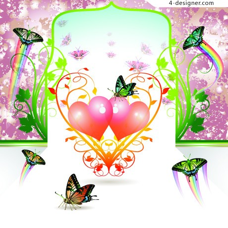 Beautiful butterfly vector material