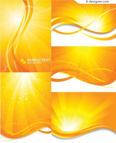 Bright sun background vector material