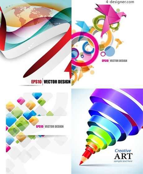 Creative modeling dynamic background vector material