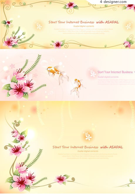 Exquisite fantasy lace vector material
