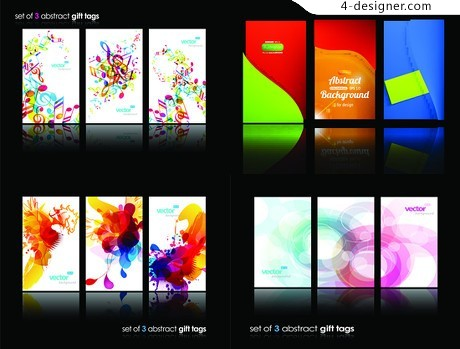 Fashion colorful series cover vector material