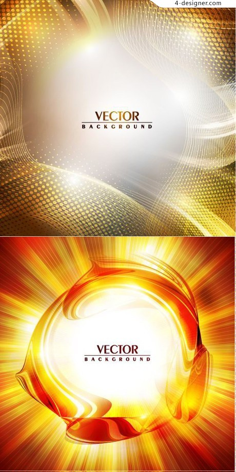 Flame flare background vector material
